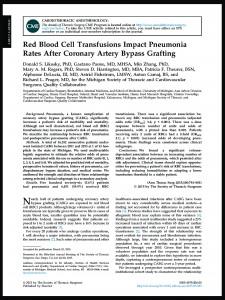 2015RBC TransfusionPneumonia